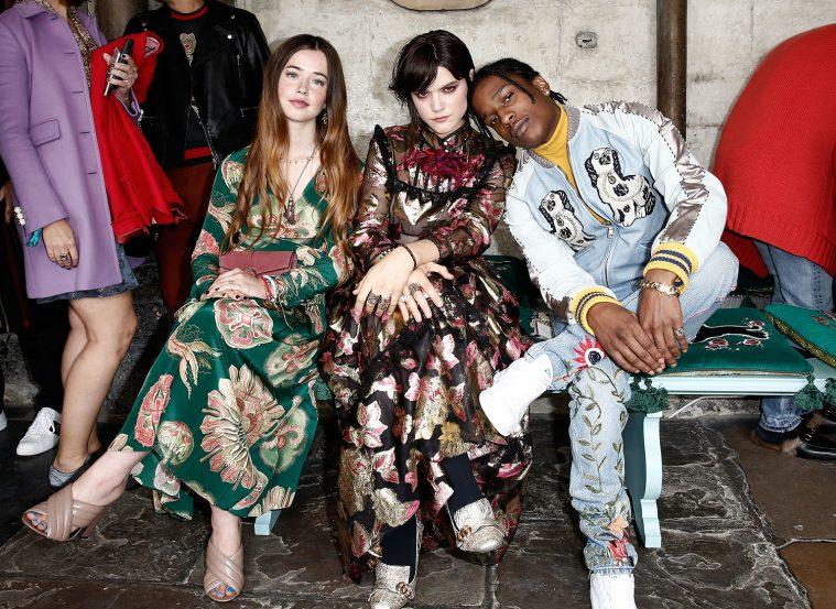 Flo Morrissey, Soko og ASAP Rocky i Gucci ved brandets Cruise-show sidste år
