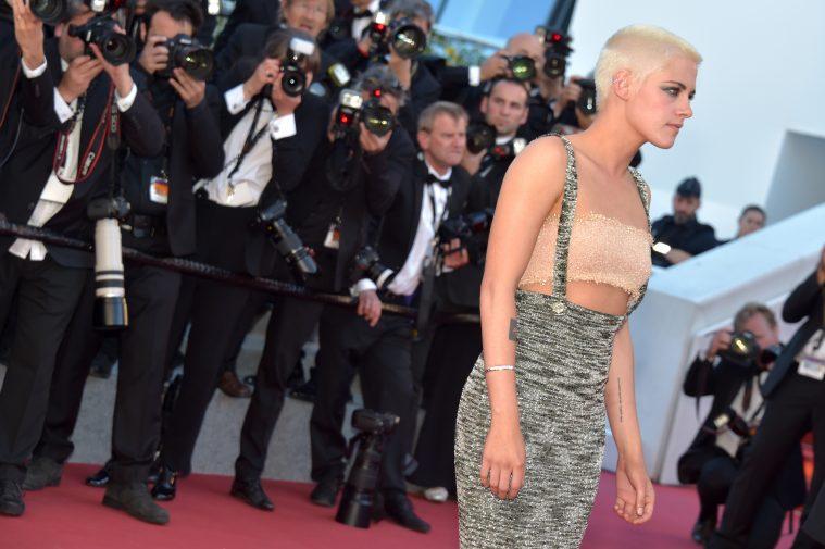 Kristen Stewart på den røde løber i Cannes lørdag eftermiddag.