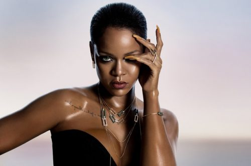 Kampagnebillede fra Rihannas Chopard-samarbejde