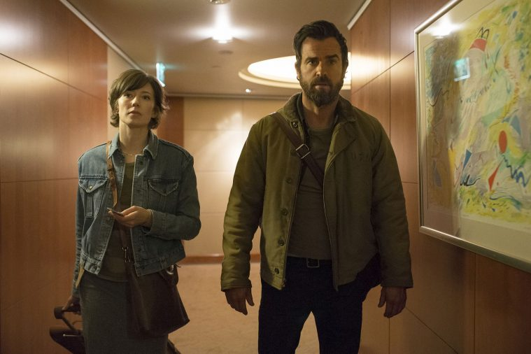 Carrie Coon og Justin Theroux om Nora og Kevin, hovedfigurerne i 'The Leftovers'.