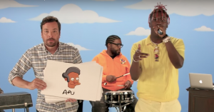 Video: Lil Yachty rapper om 59 Simpsons-figurer med Jimmy Fallon og The Roots