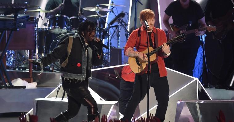 Årets VMA-WTF: Lil Uzi Vert og Ed Sheeran spiller 'XO Tour Llif3' og 'Shape of You' sammen