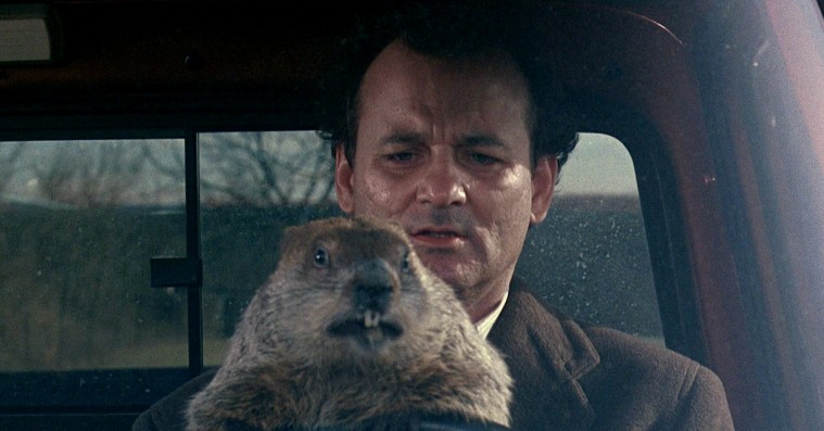 Bill Murray laver en perfekt Bill Murray-joke: Ser 'Groundhog Day' to dage i træk