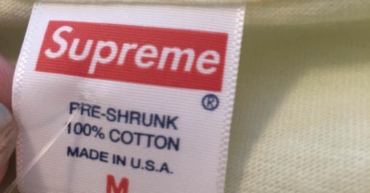 Heldig shopper fandt 25-kroners Supreme-t-shirts i lokalt supermarked
