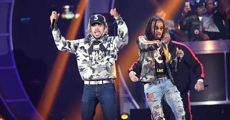 Chance the Rapper er i studiet med Lil Yachty og Migos-medlemmet Quavo