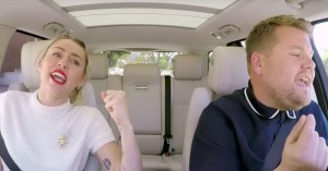 Carpool Karaoke: Miley Cyrus og James Corden synger 'Party in the USA' og snakker om twerk-fadæsen