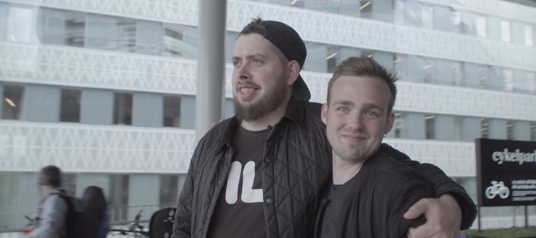 Emil Lange og Eloq på gaming-brocation i Stockholm