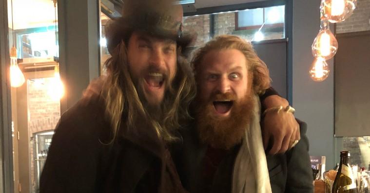 Jason Momoa og Kristofer Hivju udgør en frygtindgydende drukfælle-duo i 'Game of Thrones'