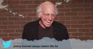 Larry David knækker sammen af grin hos Jimmy Kimmel i Mean Tweets-fraklip