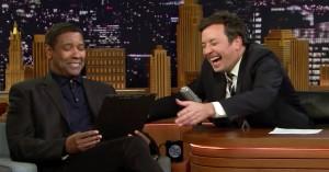 Denzel Washington gør grin med Drakes nye tatovering af skuespillerens ansigt – se hans reaktion hos Fallon