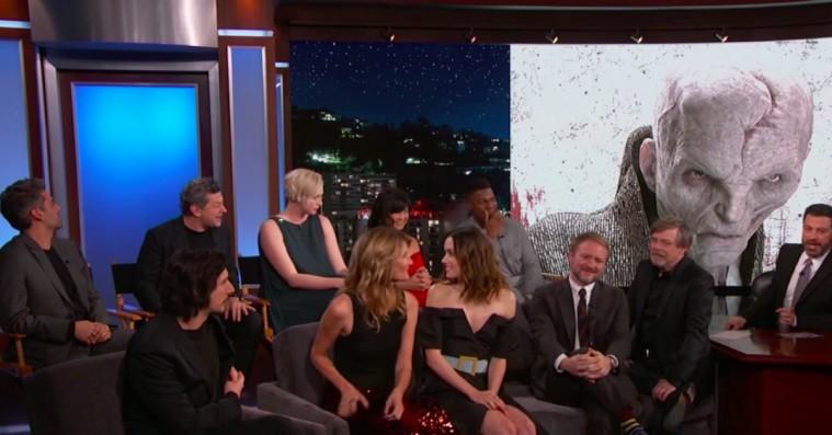Jimmy Kimmel udfritter det hemmelighedsfulde 'Star Wars: The Last Jedi'-cast
