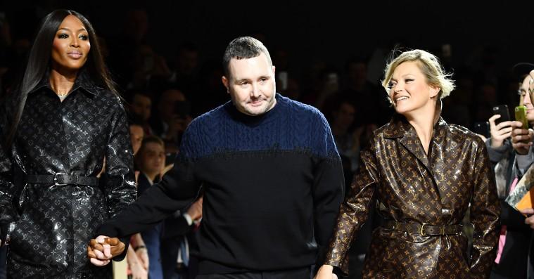 Naomi Campbell og Kate Moss hjalp Louis Vuitton-designer med at sige farvel