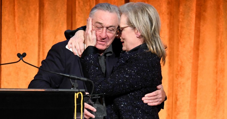 Robert De Niro omdanner Meryl Streep-præsentation til ét langt Donald Trump-diss