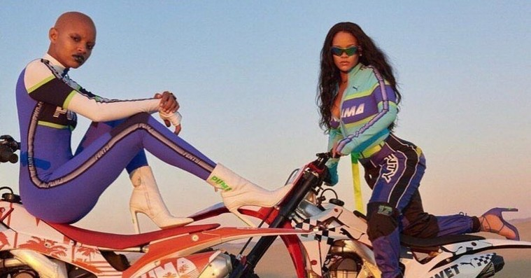 Rihanna og Slick Woods dyrker motorsport for Fenty x Puma