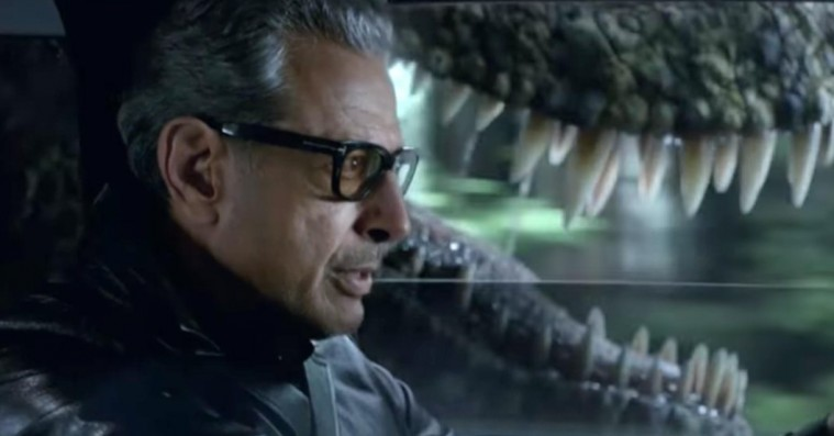 Jeff Goldblum rekreerer ikonisk 'Jurassic Park'-scene med frådende T-Rex – og et overraskende twist