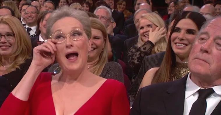 Meryl Streeps mand orker ikke mere Oscar –hans pokerfjæs under hele showet er beundringsværdigt
