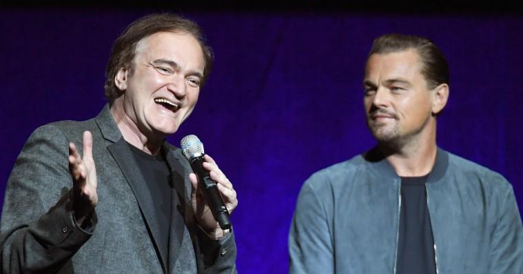 Quentin Tarantino og Leonardo DiCaprio teaser 'Once Upon a Time in Hollywood' ved surprise-optræden
