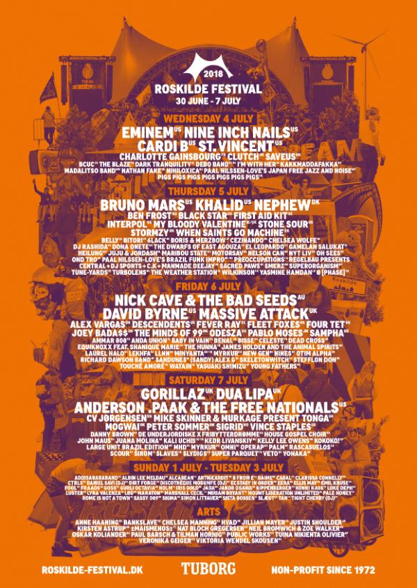 roskilde festival dagsprogram 2016
