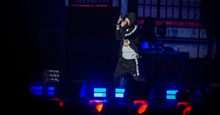 Eminems første besøg i Danmark var en triumf
