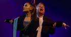 Ariana Grande og James Corden genskaber 'Titanic' som musical med Foo Fighters og Rick Astley