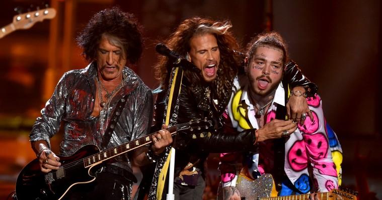 Hvad fanden lavede Post Malone på scenen med Aerosmith til MTV VMA's?