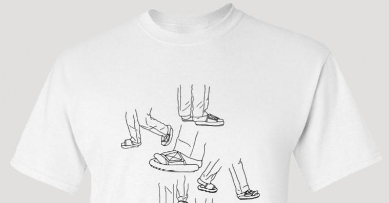 Kanyes små sandaler har fået sin egen t-shirt – Kanye forklarer situationen