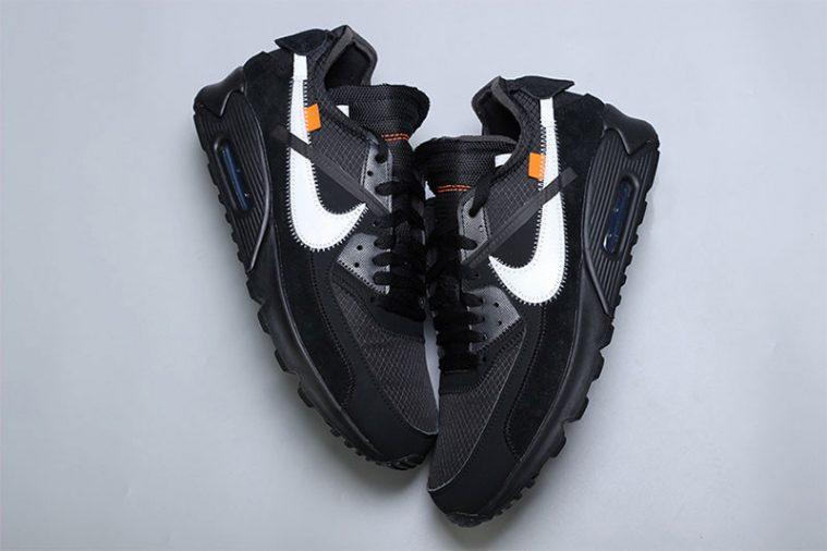 Off White x Nike Air Max 90 SortCone Hvid Sort AA7293 001