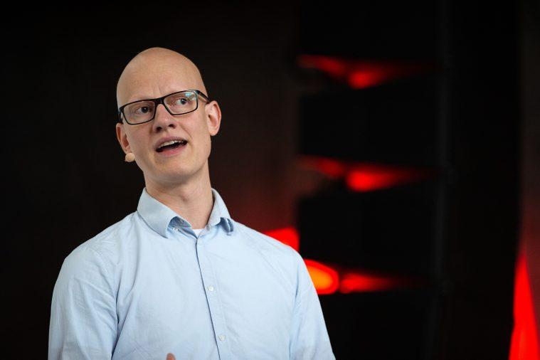 b420916ebc8d Christian Rank under præsentationen af det nye DR Drama for filmbranchen  tidligere på måneden. (Foto  Bjarne Bergius Hermansen DR)