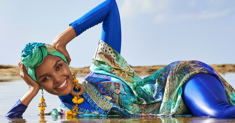 Halima Aden er den første hijabbærende model i Sports Illustrateds Swimsuit Issue