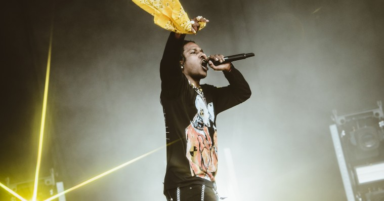 ASAP Rocky fejrede sin frihed med Kanye West – var forbi weekendens 'Sunday Service'