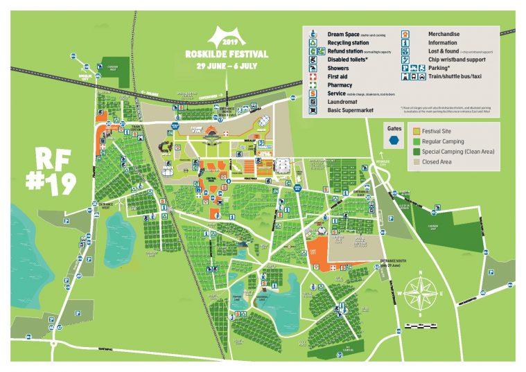 Se Kortet Over Arets Roskilde Festival Flere Scener Er Flyttet