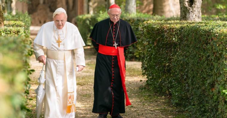 'The Two Popes': Hjertevarme Anthony Hopkins og Jonathan Pryce kan ikke redde tandløs Oscar-bait