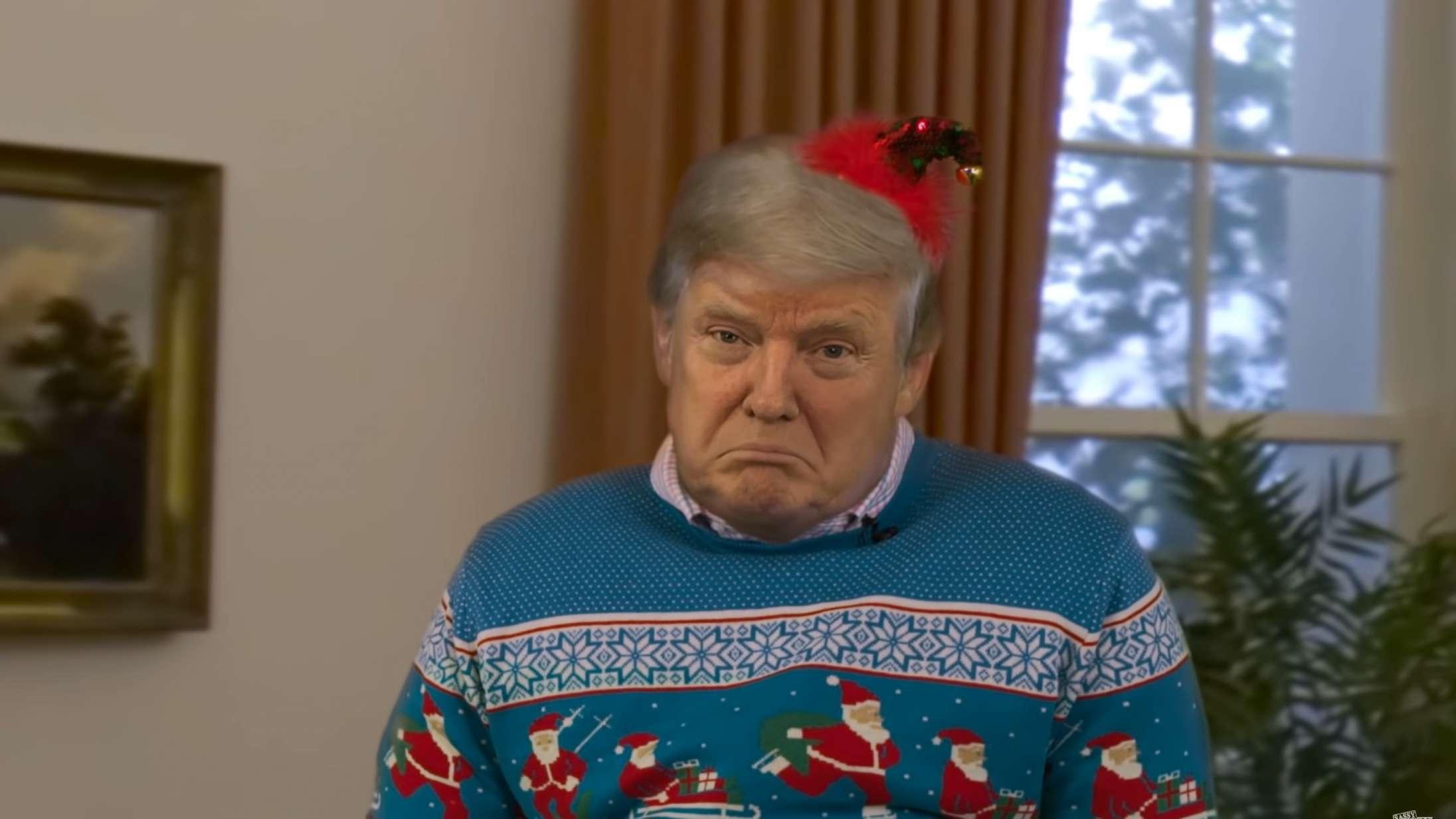 Falsk Donald Trump læser julehistorier højt i bizar video fra 'South Park'-skabere