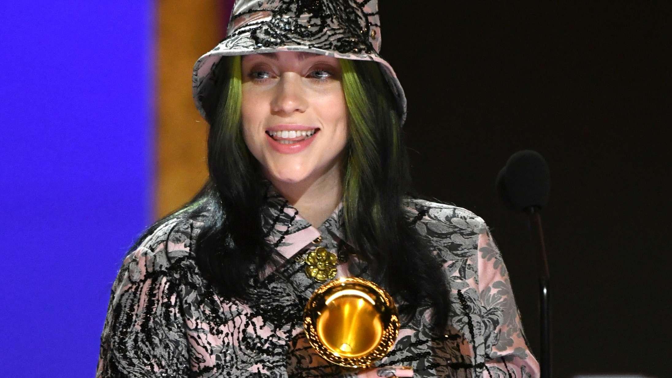 Billie Eilish bruger hele sin Grammy-takketale på at sige, at en anden skulle have vundet